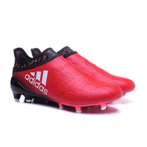 online store c293e e2687 Buy 58€ adidas X 16+ Purechaos FG AG Herren Fußballschuhe Günstig Rot  Schwarz Weiß
