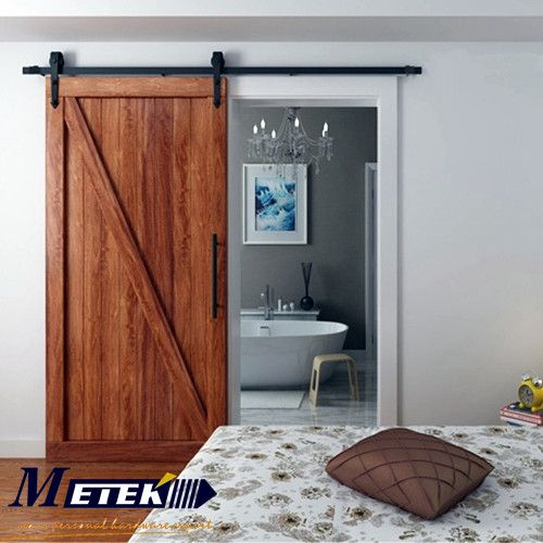 49ft6ft66ft carbon steel barn sliding closet door hardware - Closet Doors Sliding