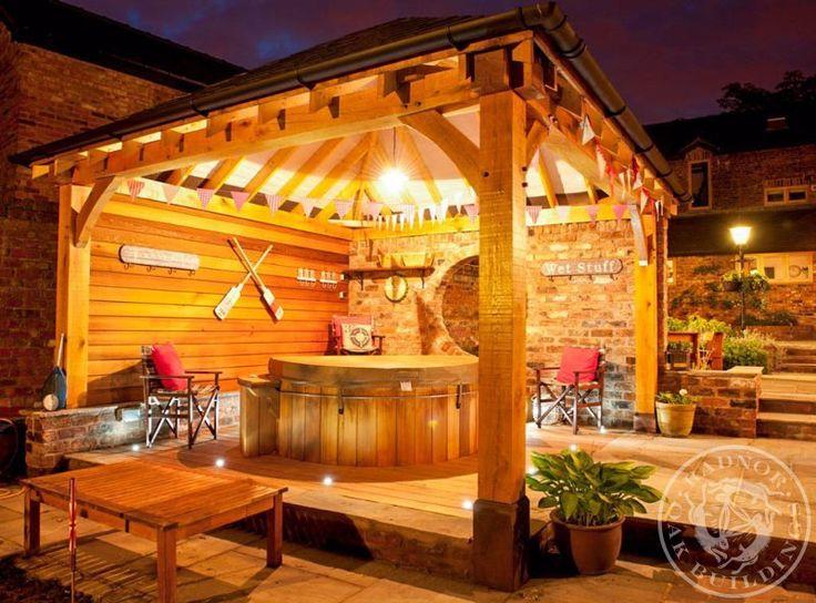 Radnor Oak - Oak Framed Gazebos - Oak Pavilion - Oak Gazebo - Outdoor living area BBQ Shelter - Garden Room - Hot Tub - Oak Hot Tub Shelter