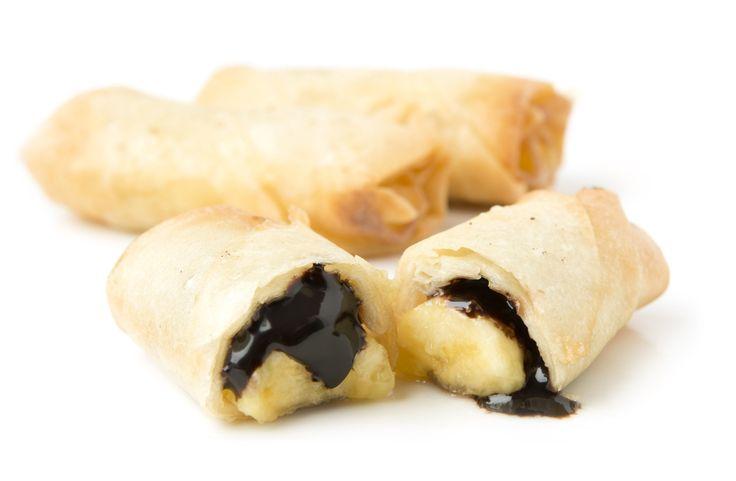 Rollitos de Plátano y Chocolate Negro