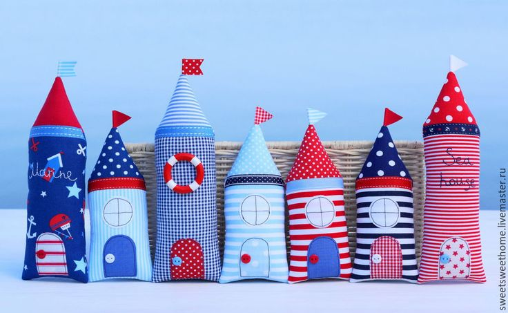 Купить Морские домики - домик, домики, текстиль для дома, текстильные домики, интерьер детской