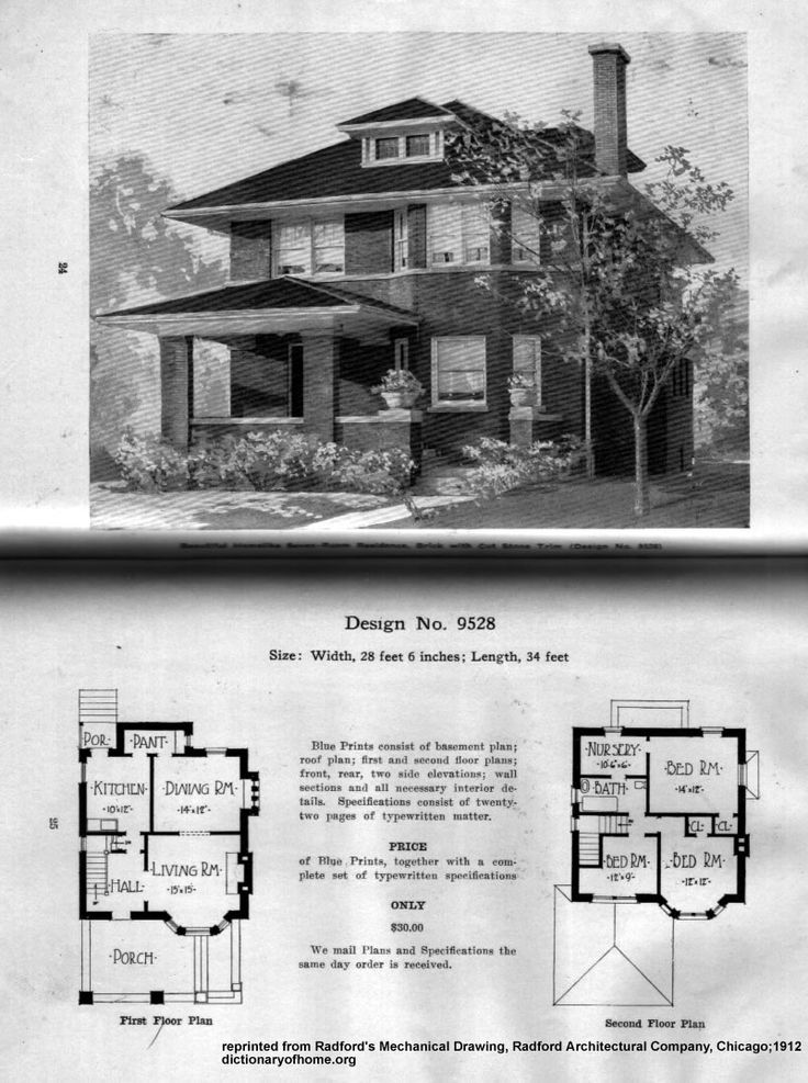 Four Square Home House Plans Vintage