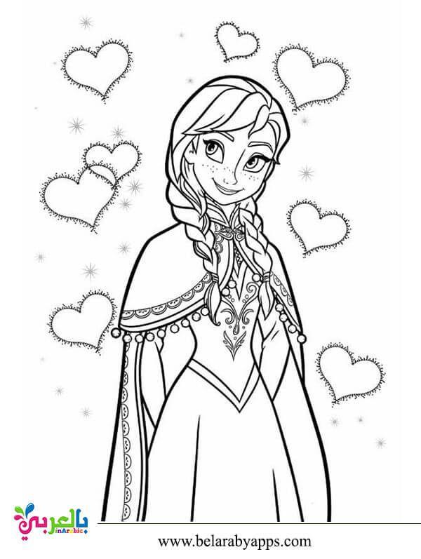 رسومات اميرات ديزني للتلوين صور تلوين بنات للطباعة بالعربي نتعلم Elsa Coloring Pages Disney Princess Coloring Pages Disney Coloring Pages