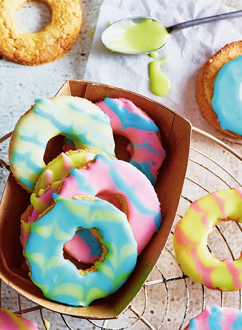 Have fun decorating these tropically sweet Coconut Party Rings. Great for birthdays or just as a Tuesday treat!
