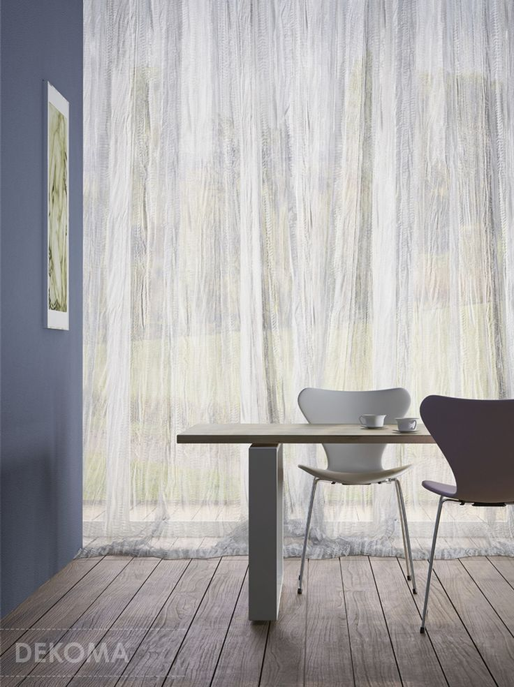 Fabrics having very decorative and modern texture. Irregular creases, folds and wrinkles remind patterns known from the nature such as sand on dunes (Philo) or smooth shining frozen water (Phoebe). Available in four colours. #interiors #decorations #fabrics #curtains