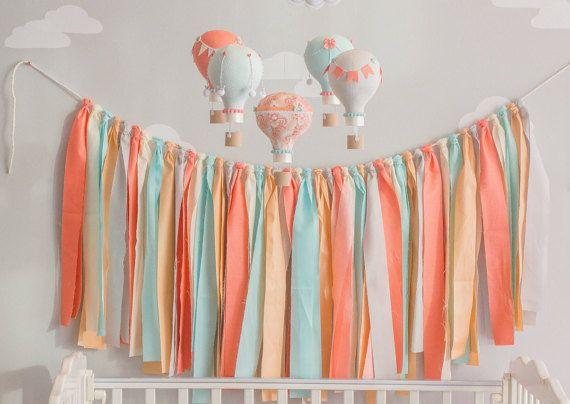 Pastel Fabric Banner Fabric Garland Custom by sunshineandvodka