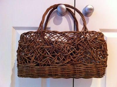 Random weave basket, made in Japan