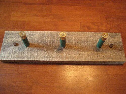 Rustic Barn Board 3 Shotgun Shell Coat Rack Hunting | eBay