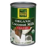 native forest coconut milk - BPA Free