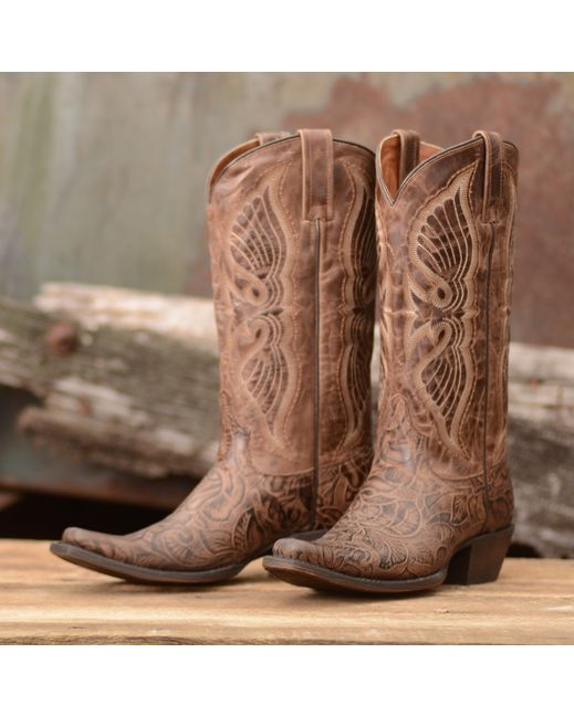 8 Second Angel Women's Angelica Boot - Distressed Tobacco  http://www.countryoutfitter.com/products/56852-womens-angelica-boot-distressed-tobacco