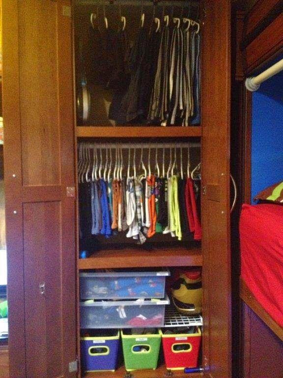 Rv Remodel Rv Organization Closet Remodel Bunkhouse