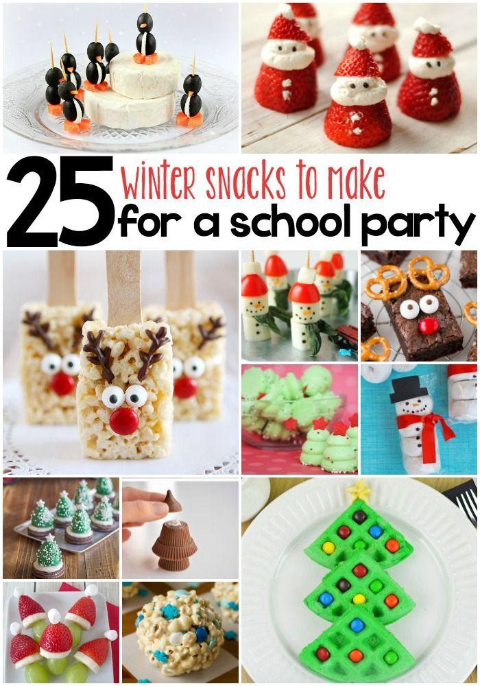 25 Whimsical Winter Snacks For Kids Kids christmas
