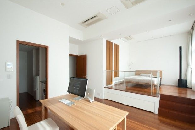 minimal tokyo apartment: Offices Desks, Interiors Inspiration, Clean, Tokyo Apartment, Studios Apartment, Studios Rooms, Workspaces, Simple Offices, Home Offices