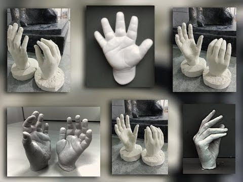3D Baby Casting - alginate mould of foot demo by Creative Casting - YouTube