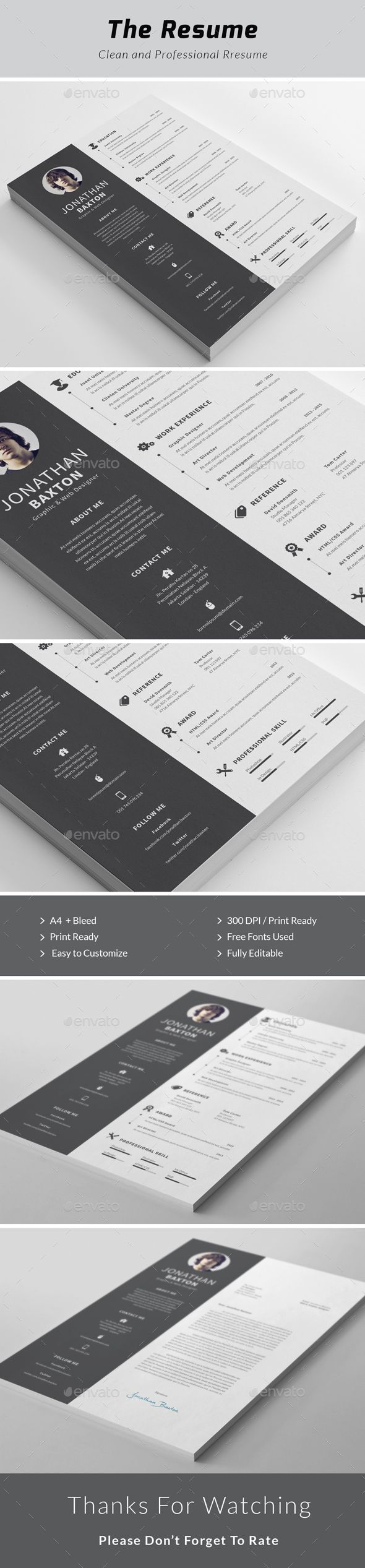 57 best print cv resume images on pinterest cv design design
