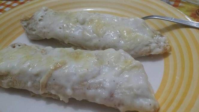 Cena en flia canelones de salsa de leche coco y acelga