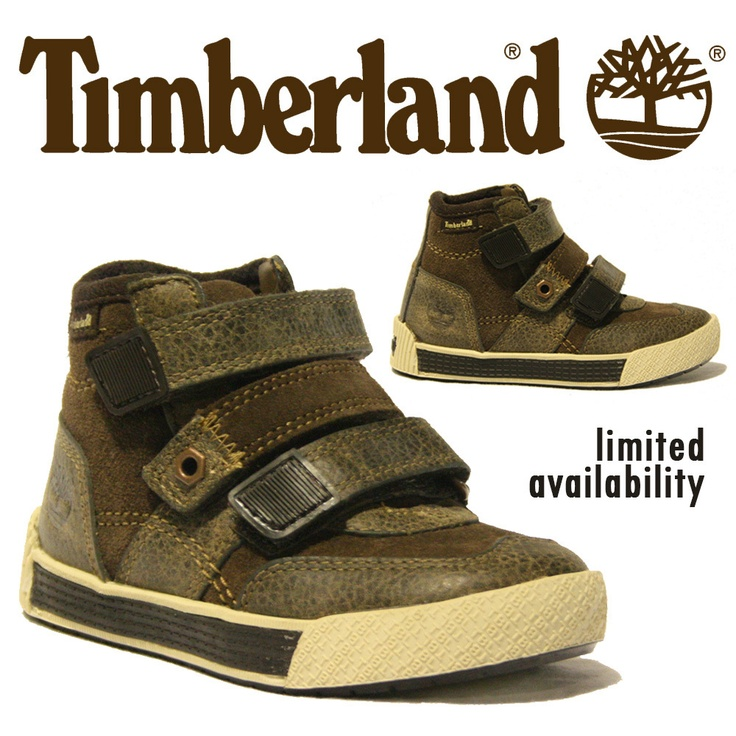 BOYS TODDLERS TIMBERLAND HI TOP PUMPS TRAINER VELCRO LEATHER DESIGNER KIDS 30836 | eBay