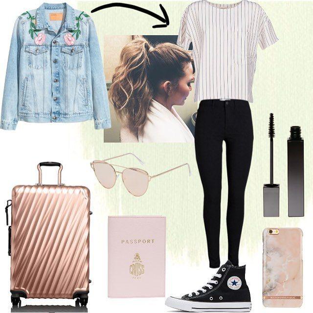 Hot Or Not? ✈️��#traveloutfit ••• Q: Hou jij van reizen?�� A: Bij mij ligt het eraan�� maar in het vliegtuig vind ik meestal wel leuk! Zeg jouw antwoord in de comments!���� ••• #travel #outfit #flowers #mode #hotornot #hot #not #passport #suitcase #spikerjacket #striped #shirt #black #skinnyjeans #converse #allstars #mascara #phonecase #pink #rosegold #vacation #holiday http://tipsrazzi.com/ipost/1508087626891317271/?code=BTtzbTbBNAX