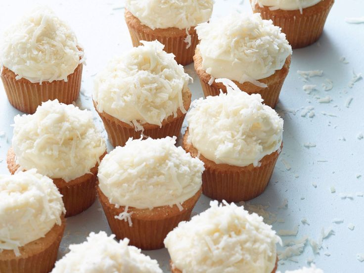 Coconut Cupcakes recipe from Ina Garten via Food Network