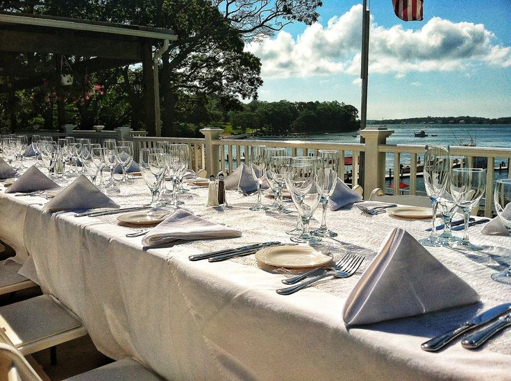 Pridwin Hotel Perfect Beach Wedding Table Setting Shelter Island Long NY