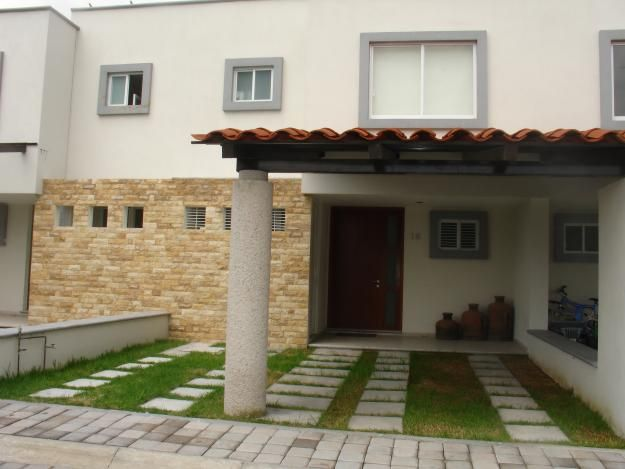 Fachada con teja fachadas pinterest for Fachadas de casas con teja