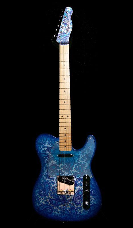 Crook Custom Guitars - Blue Lesquire, Brad Paisley
