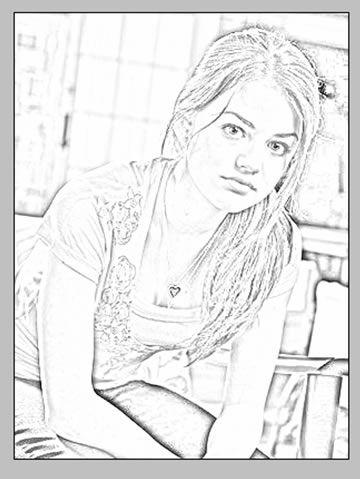 Efecto de dibujo a lápiz sobre una foto en Photoshop