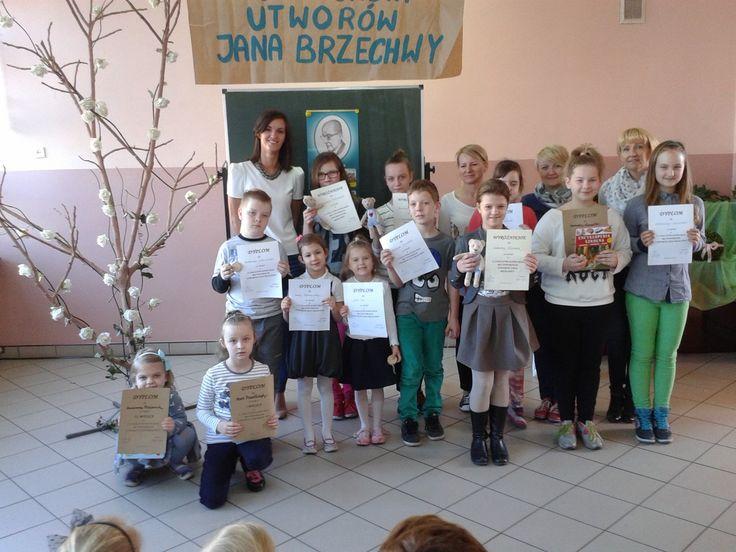 Dziś od samego rana odbył się II SZKOLNY KONKURS RECYTATORKI UTWORÓW JANA BRZECHWY  zorganizowany przez naszą panią Natalię.