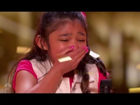 """Angelica Hale: gets GOLDEN BUZZER after burning down AGT with """"GIRL ON FIRE""""   AGT S12 Episode 8 - YouTube"""