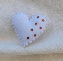 """Handmade brooch """"Heart"""""""