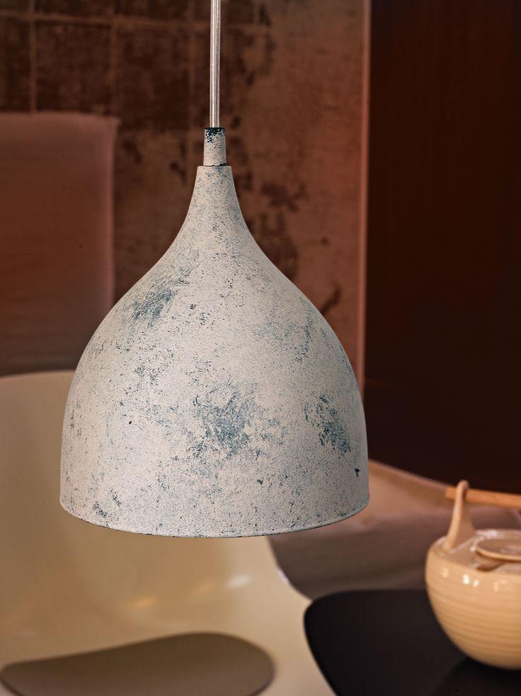 Eglo Lighting Vintage Collection / Coretto / Limed White 1 Lamp Pendant Light