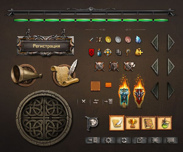 Interface design for game Mirohod.ru on Behance