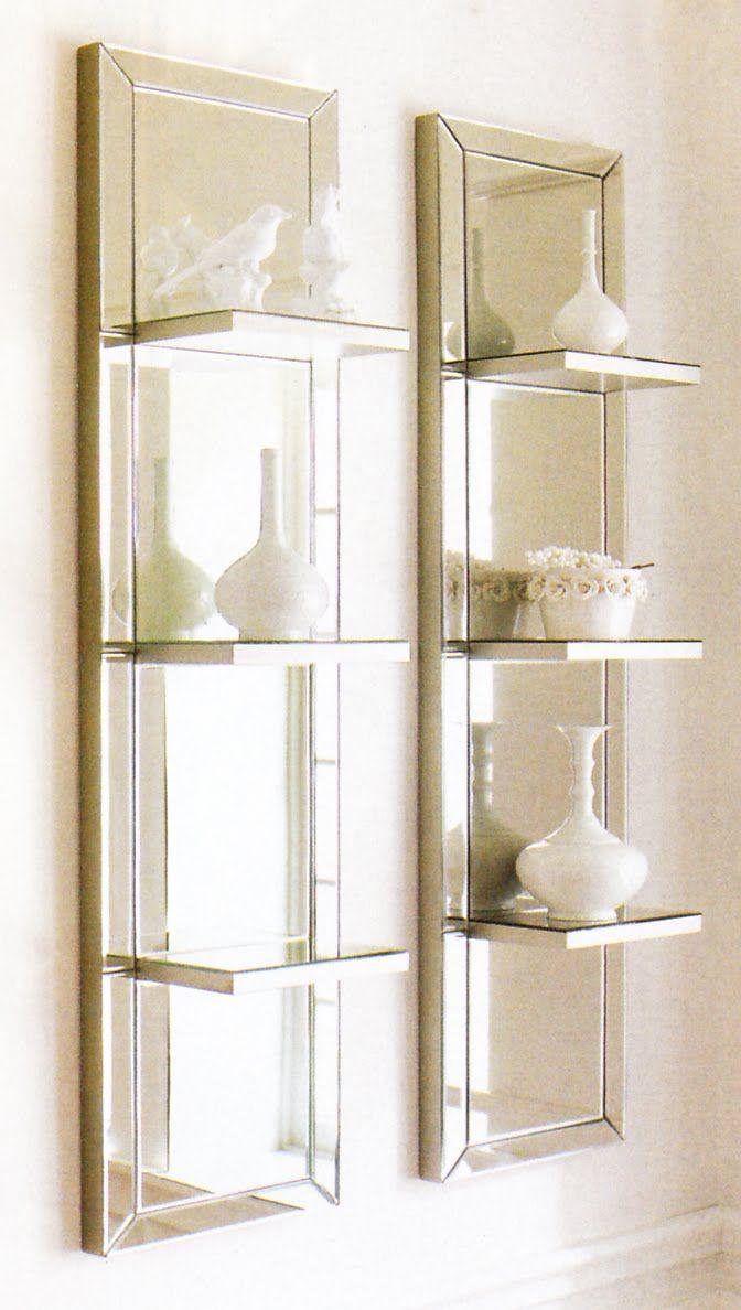 Horchow Mirrored Shelves Shelves Pinterest Shelves