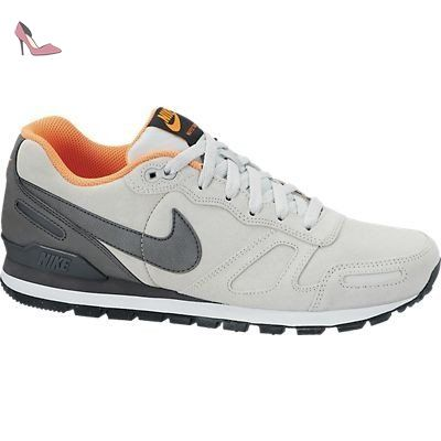 Nike air waffle trainer leather chaussures cuir mode homme gris orange Nike T:40 1/2 - Chaussures nike (*Partner-Link)