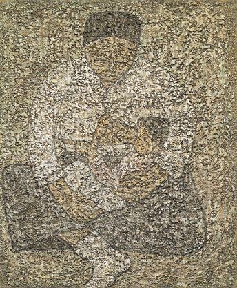 Park Soo-keun, Mother and Son, 1961, Oil on Canvas, 45.5x38cm, GALLERY HYUNDAI