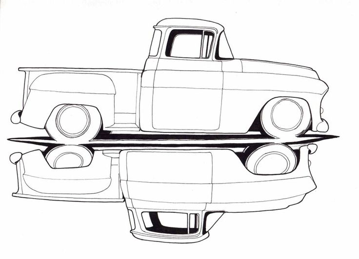 old chevy truck drawings