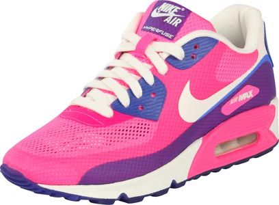 womens air max 90 hyperfuse blue pink