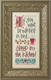 Breakfast in Bed Giggle Boxer - Cross Stitch Kit