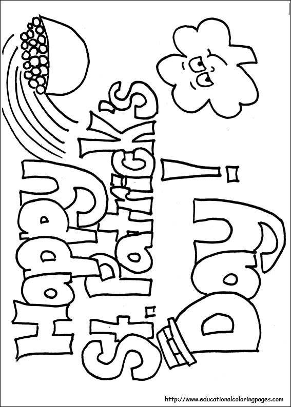 o byrnes st patricks day coloring pages - photo #38