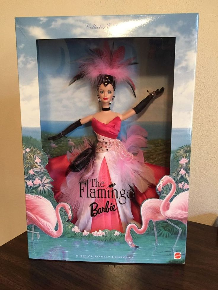 """1998 FLAMINGO BARBIE DOLL """"BIRDS OF BEAUTY COLLECTION"""" NRFB #Mattel"""