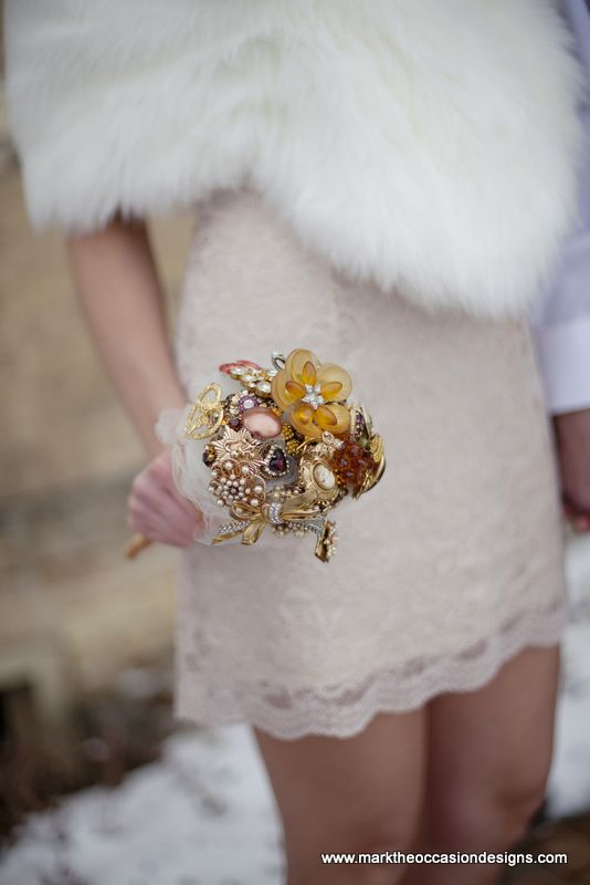 Jewelry Wedding Bouquet by MarktheOccasionDesigns.com