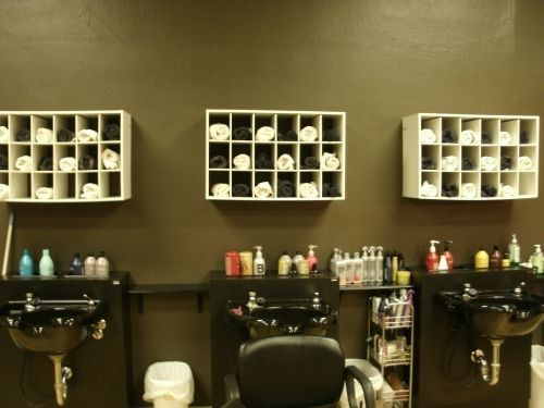 creative salon storage ideas - Hair Salon Design Ideas