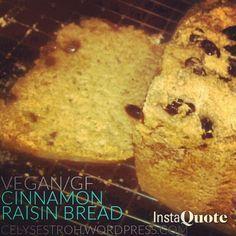 Cinnamon Raisin Bread-Machine Bread Recipe [Vegan/Gluten Free]. ☀CQ #glutenfree