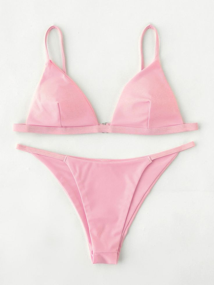 Shop Adjustable Strap Triangle Bikini Set online. SheIn offers Adjustable Strap Triangle Bikini Set & more to fit your fashionable needs.