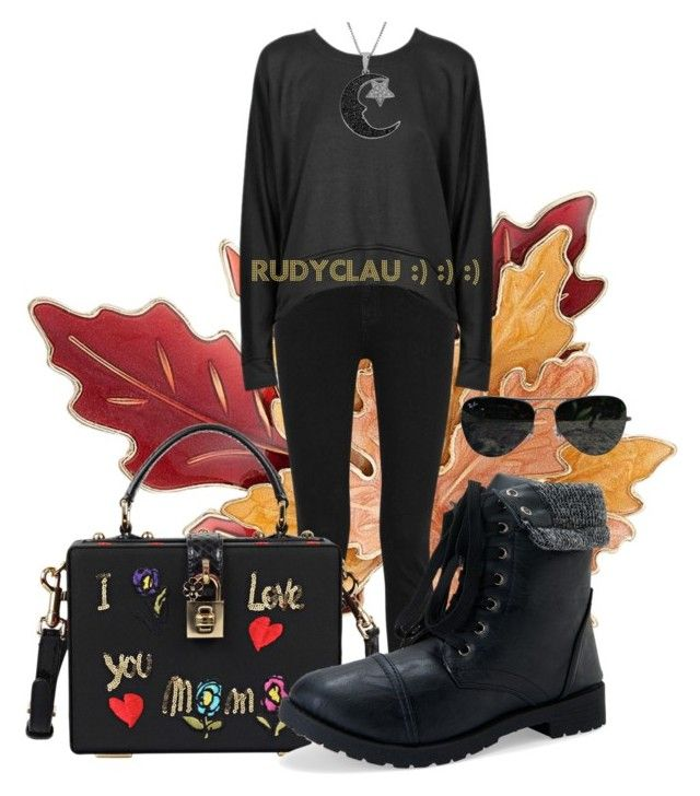 """Ragazza ribelle...."" by rudyclau on Polyvore featuring moda, Croft & Barrow, rag & bone, T By Alexander Wang, Dolce&Gabbana, Aéropostale, Jewel Exclusive e Ray-Ban"