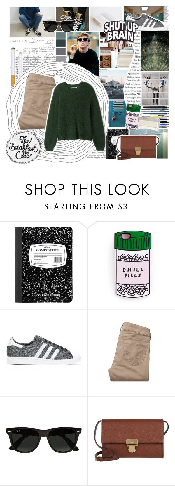 """The Breakfast Club - The Brain"" by meredithwelch ❤ liked on Polyvore featuring Edition, adidas Originals, Hollister Co., Ray-Ban, Joop!, 80s, breakfastclub, thebreakfastclub, brianJohnson and thebrain"