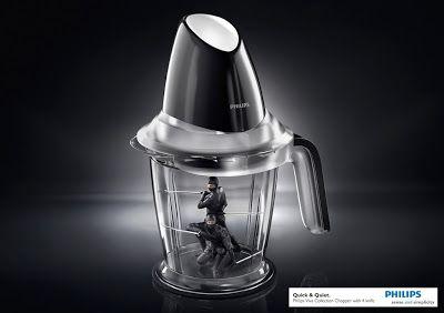 Ingeniosa publicidad de electrodoméstico. | Quiero más diseño