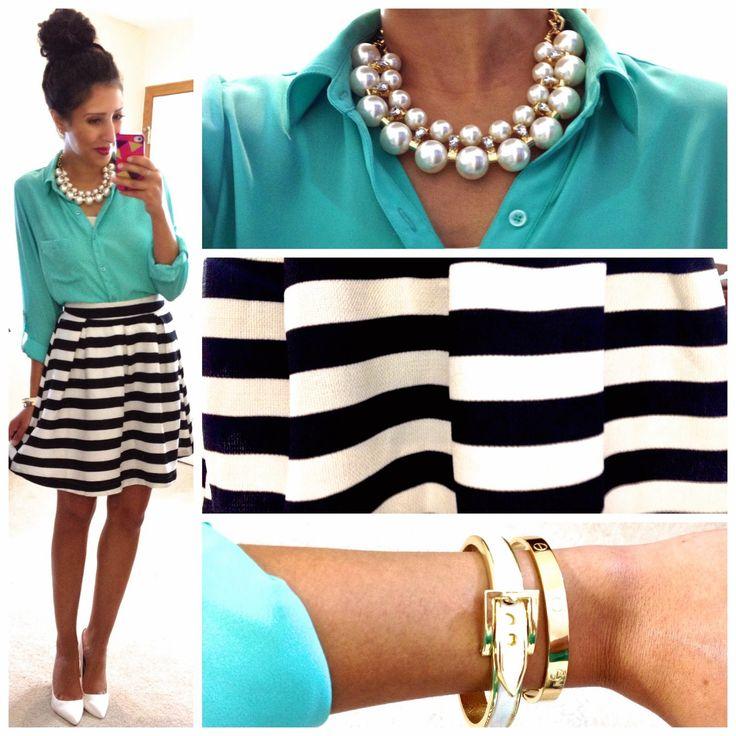 Love the stripe skirt!