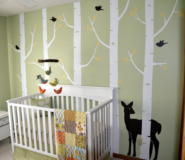 936 best images about nature baby themed rooms on pinterest nursery trees white trees and babies nursery - Woodland Nursery Decor