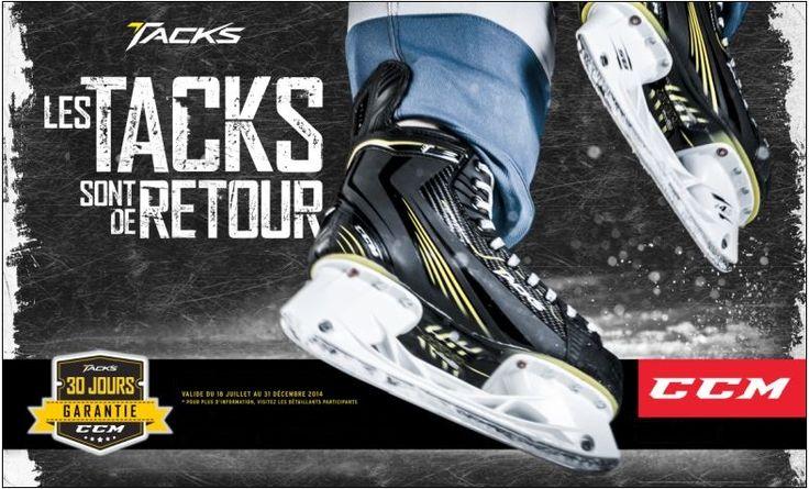 Si vous n'êtes pas satisfait de vos patins Tacks pendant les 30 jouers suivant votre achat, nous vous remettrons votre argent grâce à la garantie de 30 jours de CCM Hockey.*  Plus de détails disponible en magasin. http://www.prohockeylife.com/nos-magasins-page-5